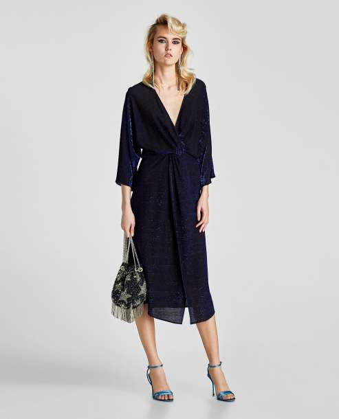 vestido kimono lentejuelas